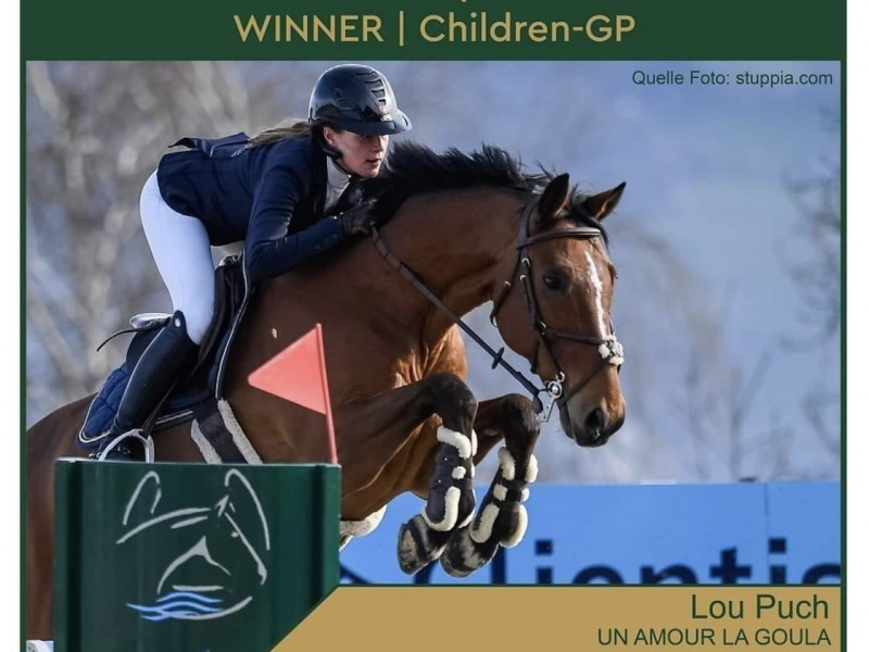 Springreiten: Lou gewinnt den Children Grand Prix in Lamprtechtshausen (AUT)!