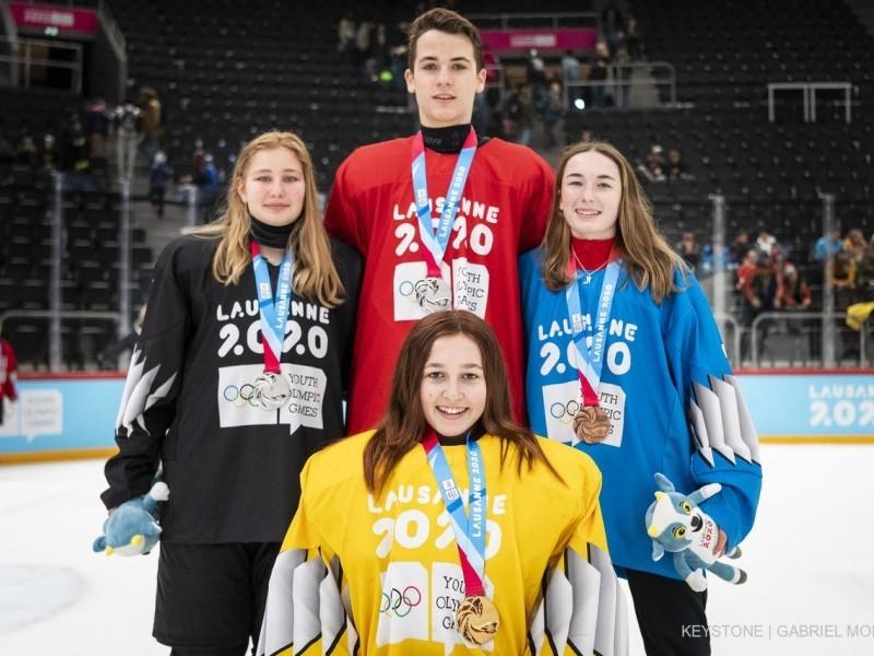 YOG 2020 Eishockey: Jan Hornecker gewinnt die Silbermedaille in der Disziplin 3:3