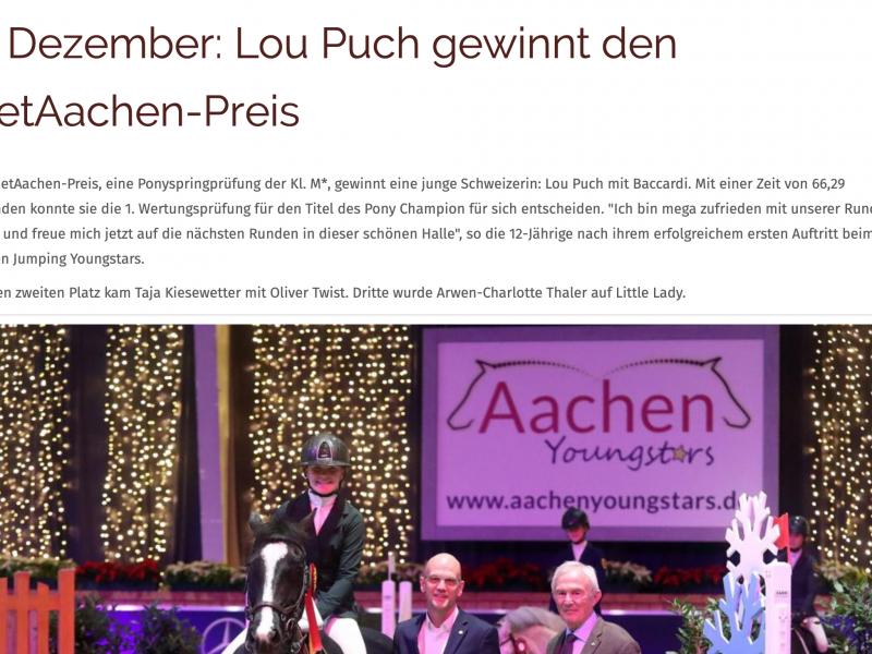 Lou Puch gewinnt den NetAachen-Preis