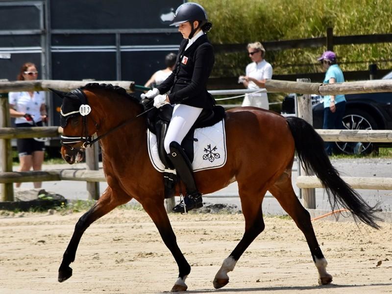 Reiten (Pony Dressur): Robynne Graf erreicht Spitzenplätze bei nationalem Vergleich