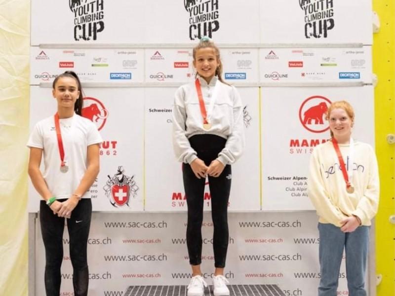 Klettern: Anaïs Heim gewinnt an der Schweizermeisterschaft die Bronzemedaille im Bouldern!