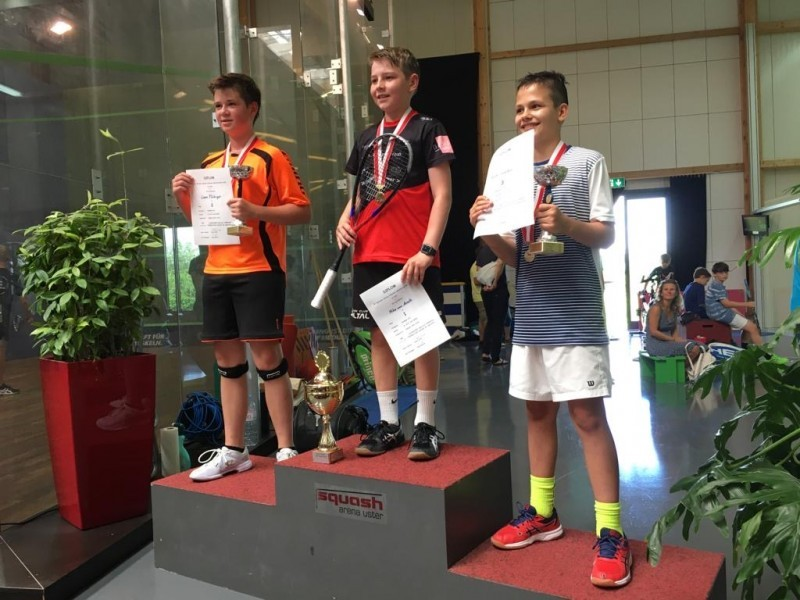 Squash: Liam Flückiger erspielt die Silbermedaille an der SM U13