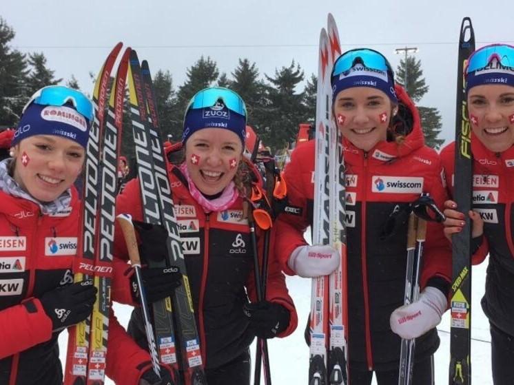 Staffel-Gold für Siri Wigger (Gibswil) und Anja Weber (Hinwil) bei der nordischen U23- und Junioren-WM in Oberwiesenthal